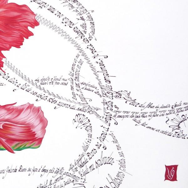 Tulipe calligraphie detail