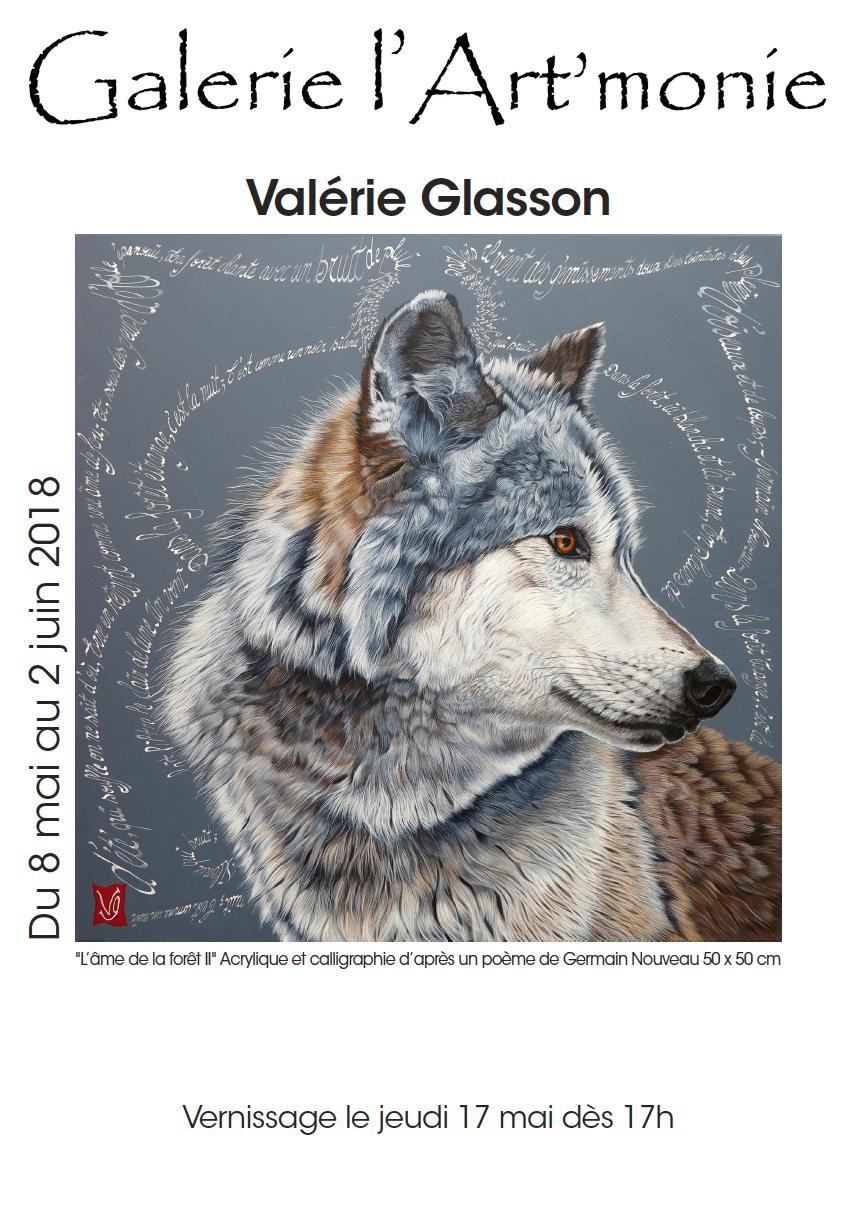 Invitation ˆ l'exposition de l'artiste ValérieGlasson ˆ la Galerie l'Art'monie Genve